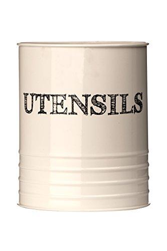 Premier Housewares Sketch Utensil Canister - Cream