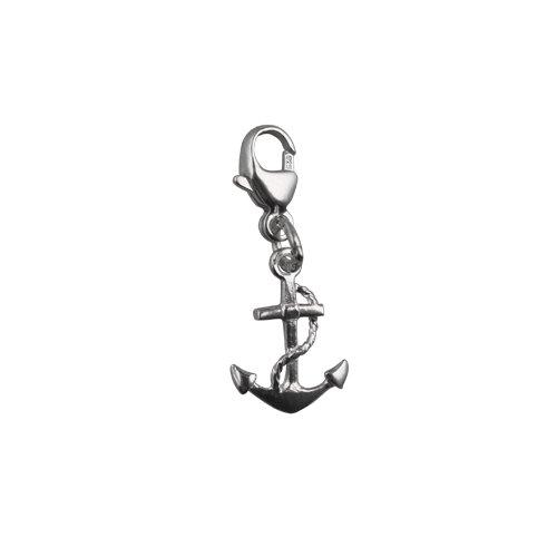 23x10mm Argent symbole d'ancrage de charme d'espoir sur un déclencheur de homard