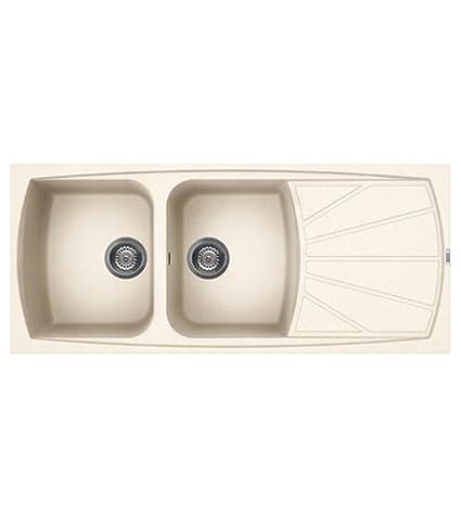 Lavello cucina Living incasso 116x50, 2 vasche, reversibile sia dx ...