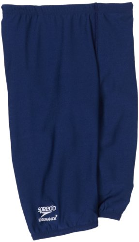 Speedo Big Boys' Endurance+ Solid Jammer Swimsuit, Navy, - Navy Blue Speedo Swimsuit