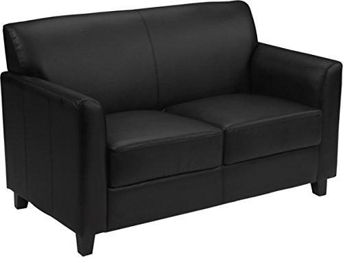 Flash Furniture Diplomat BT-827 Reception Loveseat Black by Flash Furniture