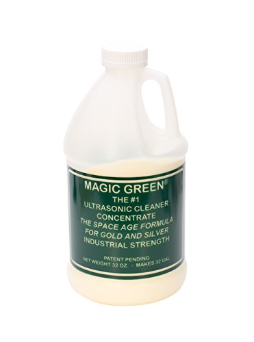 Magic Green Ultrasonic Cleaner - 2 lbs Jewelry Metal Cleaning Concentrate Solution by PMC Supplies LLC
