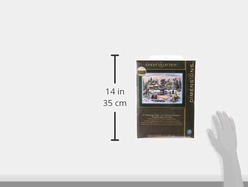 Dimensions Crafts Tama/ño Dorado Collection//Juego de Punto de Cruz A Bonita Figura Tiempo