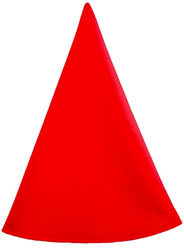 Red Gnome Hat Men's Costume Cap Extra Tall (One Size, Red) -
