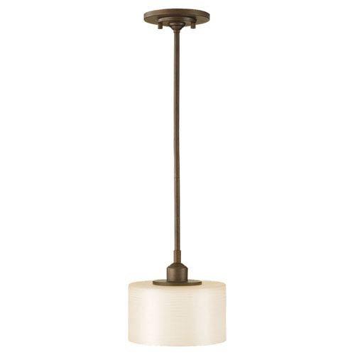 Feiss P1153CB, Sunset Drive Mini Drum Pendant, 1 Light, 100 Total Watts, Bronze (Bronze Corinthian Pendants Finish)