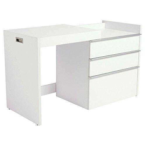 Eurostyle Dew Convertible Writing Desk in White (Style Desk Writing Euro)