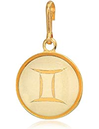 Women's Etching Charm Gemini Small 14kt Gold Plated, Expandable