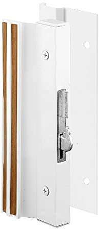 Surface Mount kit; replacement; locking; slide; durable; safe; secure part; latch; lock; hardware; wheels; catch; cam; lever Prime-Line Products C 1001 Sliding Glass Door Handle Set Extruded Aluminum 4-15//16 in. Hook Style Black