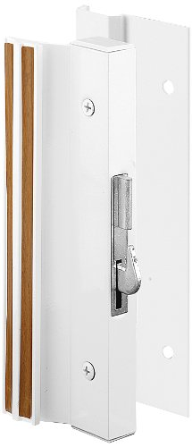 Prime-Line Products C 1203 Sliding Glass Door Handle Lock, Hook Style, Surface Mount, White, (Hook Style Surface Mount Handle)
