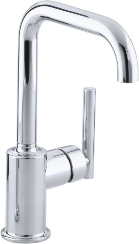 KOHLER K-7509-CP Purist Secondary Swing Spout Without Spray, Polished Chrome