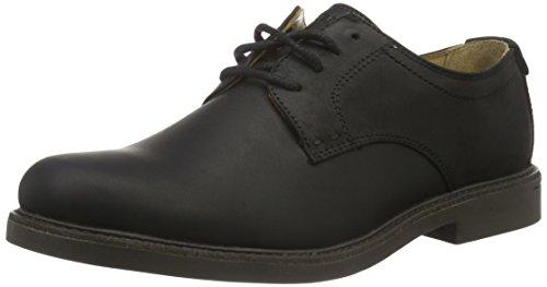 Black Oxford Sebago Turner Nero Wp Leather Stringate Scarpe Basse Lace WP up Uomo 110rqw