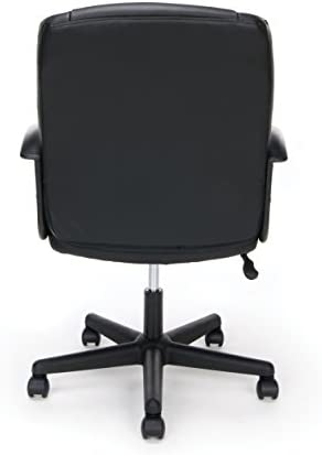 OFM Essentials Collection Executive Office Chair, Bonded Leather, in Black ESS-6000