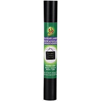 Duck Brand Deco Adhesive Laminate Shelf Liner, Chalkboard, 12 Inches x 10 Feet (283395)