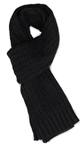 - Sakkas SC1961 Ellington Unisex Knit Scarf - Cable Knit Black,One Size