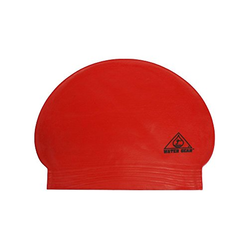 Water Gear Latex Swim Cap Red ()