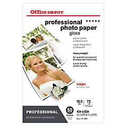 office-depot-professional-photo-paper-gloss-4in-x-6in-105-mil-pack-of-50-sheets-110680