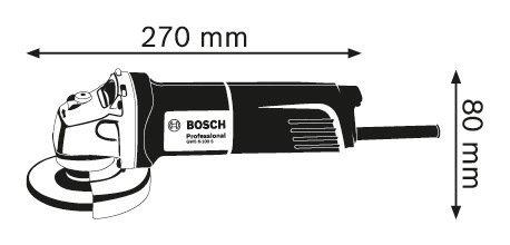Bosch GWS 6-100 S Professional Angle Grinder / 710 Watt 220 Volt 60Hz Europe C Type Plug