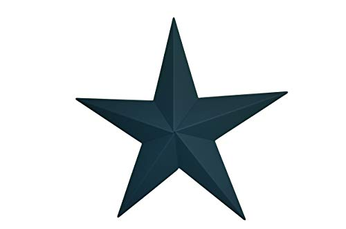 AMISH WARES 53 Inch Heavy Duty Metal Barn Star Painted Solid Colonial Blue. ()