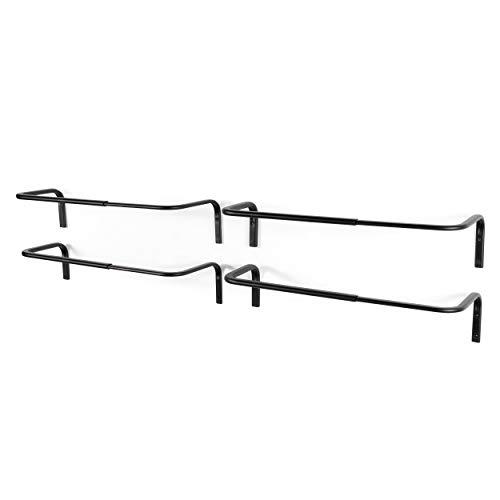 brightmaison Adjustable Double Hanging Closet Bar Rail Organization System Durable Steel Construction Buyer Receives 4 Bars (Black)
