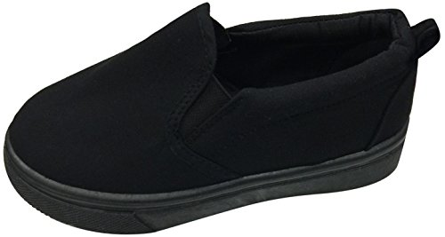 [Little Boys Big Boys Tie up Slip on Canvas Sneakers for Children (7 M US Toddler, Black/Black-a1)] (Little Girl Gypsy Costumes)