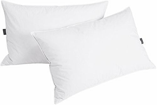 Puredown Down Feather Pillows For Sleeping, Set of 2, Standard