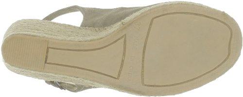 US Polo Assn - Sandalias de terciopelo para mujer Beige (Beige (Tau))