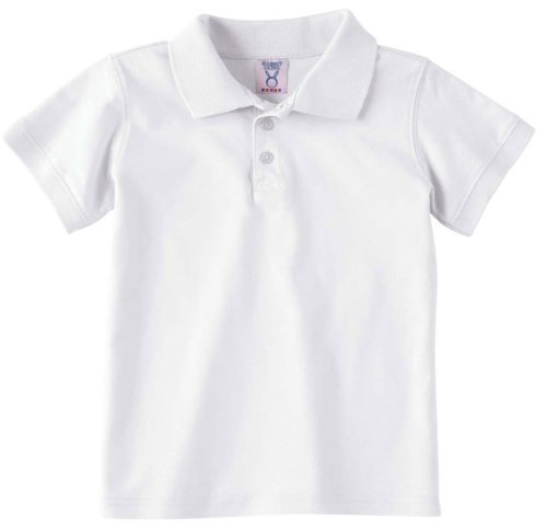 Rabbit Skins RS4600 5.5 oz Toddler Platinum Sport Shirt - White - 4T