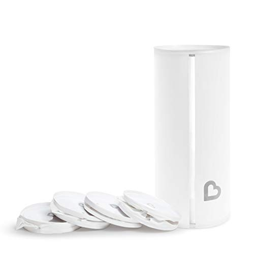 Munchkin Toss Portable Disposable Diaper Pail 1 Pack Holds 30 Diapers White