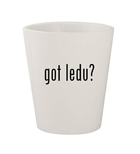 got ledu? - Ceramic White 1.5oz Shot Glass