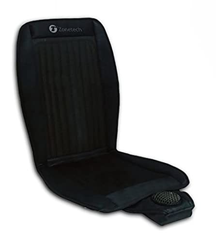 Zone Tech Cooling Car Seat Cushion - Black 12V Automotive Adjustable Temperature Comfortable Cooling Car Seat - Cars Cooling and Heating
