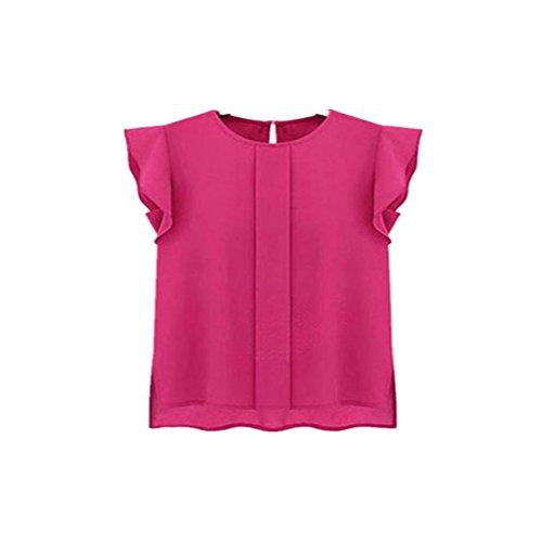 best loved 07c37 5720b svart casual ärmblus sexig rosa varm chiffon partyklubb arbetsplats  brittisk loose tröja arbetsplats VEMOW vår ny krage skjortor vit 2018 ...