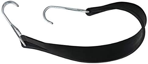 Farbe schwarz 37 mm Gurtbreite dehnbar Gummispannband mit zwei Drahthaken 53 cm L/änge mit 2 Drahthaken Rollgitter Rollwagen