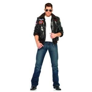 [Top Gun Men's Bomber Jacket Set Costume - Small - Chest Size 38] (Top Gun Womens Bomber Jacket Costume)