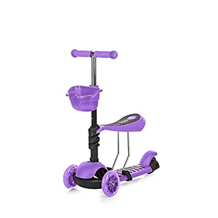 Chipolino Patinete Infantil con Asiento KIDDY Morado: Amazon ...