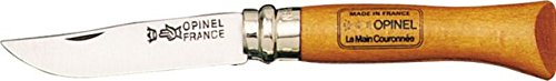 Opinel No6 Carbon Steel Folding Pocket Knife with Beechwood Handle