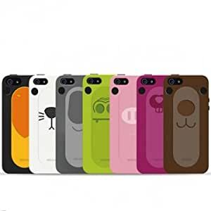 Animal Sticking Tongue Out Holder Funny Face Silicon Case For iPhone 5 --- Animal:Green