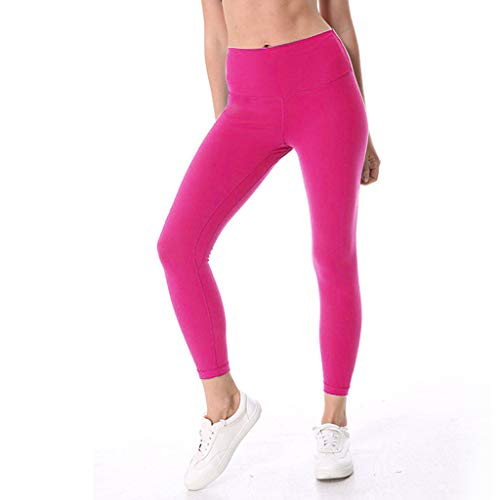 ga Pants Soft Pockets Trousers Jogger Capri Workout Running Sports Leggings for Women Pink ()