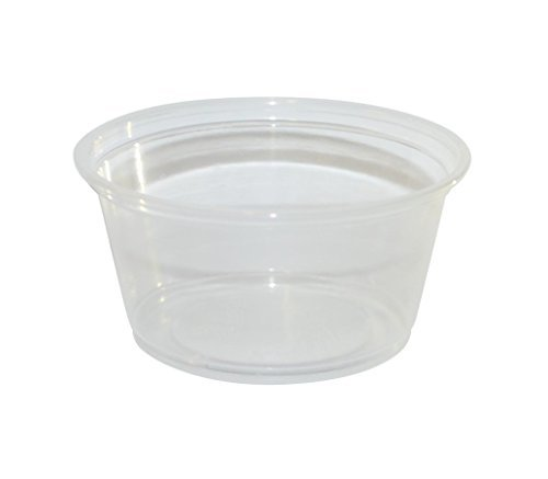 PARA 3.25 oz Plastic Souffle Portion Cup with lids, Clear, 100/Pack by Pop V