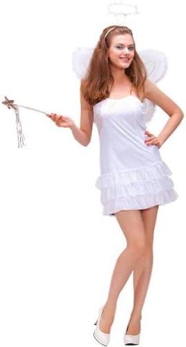 Ángel blanco sexy traje de lujo con alas. Talla: M: Amazon.es: Hogar