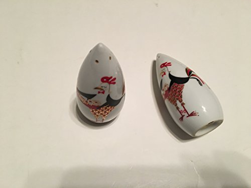 Japan Rooster - JAPAN BEVERAGE SERVING ROOSTERS SALT AND PEPPER SHAKERS