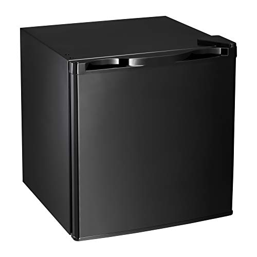 AGLUCKY Compact Refrigerator, Portable Single Door Refrigerator with Freezer Compartment, Home and Office, 1.62 cuft,Black