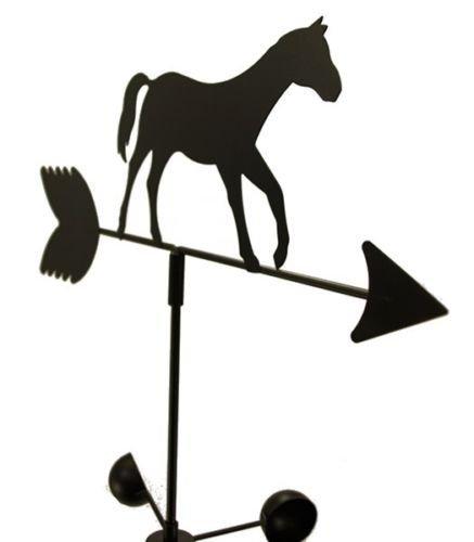 Asher Amada WEATHER VANE Horse Pony 5 Feet Tall Black Garden Mount Yard Decor by Asher Amada