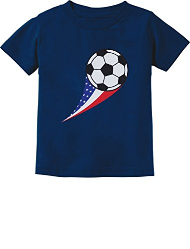 TeeStars - USA Team Soccer Ball American Flag Cute Toddler/Infant Kids ()