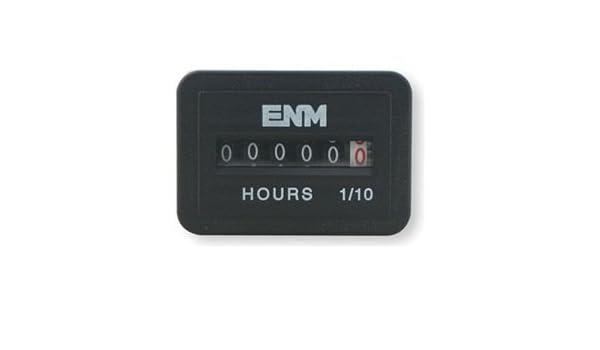ENM T51D52 Hour Meter,Back Flange Mounting,6 Digit