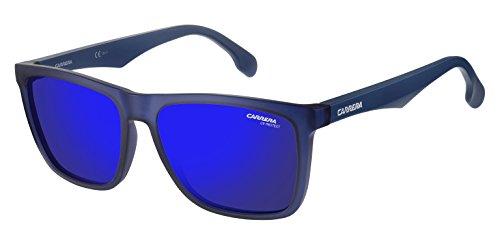 Carrera Men's Ca5041s CA5041S Rectangular Sunglasses, MATTE BLUE/BLUE SKY MIRROR, 56 mm (Carrera Sonnenbrillen Garantie)