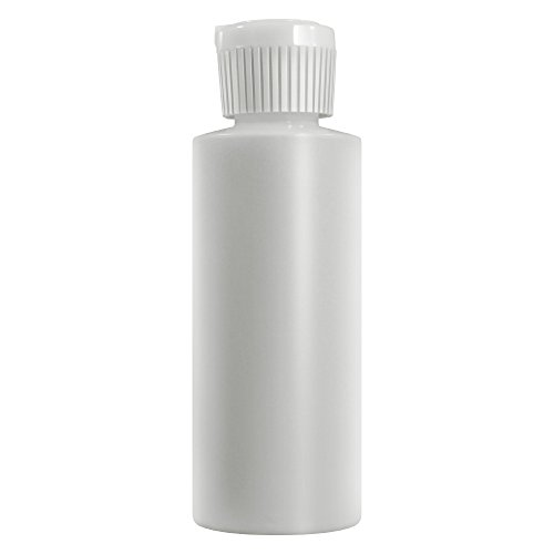 1 Oz Plastic Cylinder Bottles with Flip Top Pour Spout, Pack of 12