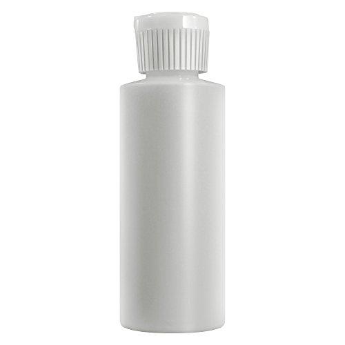 4 Oz Plastic Cylinder Bottles with Flip Top Pour Spout, Pack of 12