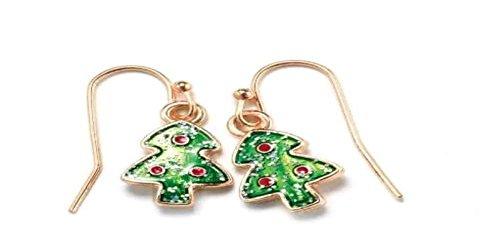 Avon Dangling Earrings - Holiday Fun Earrings - Christmas Tree