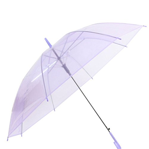 Plastic Transparent Hat (PanDaDa Dome Shape Clear Transparent Rain Umbrella Brolly)
