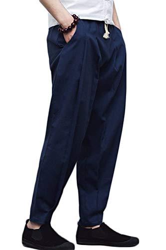 Hommes Taille Loose Casual Élastique Des Couleurs Haidean Décontractées Avec Unicolore De Pantalon Navyblue Poches Plage aAyFwpcW